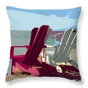 Two By The Shore Throw Pillow
