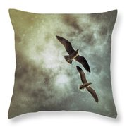 Two By Two They Flew Throw Pillow