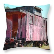 Two Caboose Throw Pillow