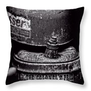 Two Cans - Bw Throw Pillow