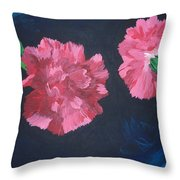 Two Carnations Throw Pillow