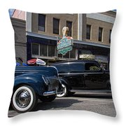 Two Cars Throw Pillow