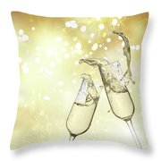 Toast Champagne Glasses Throw Pillow