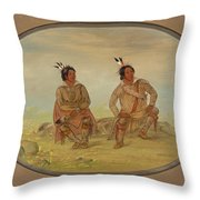 Two Choctaw Indians Throw Pillow