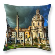 Two Churches And Columns Throw Pillow