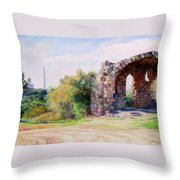 Two Civilizations. Throw Pillow