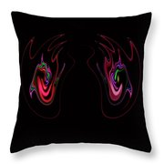 Two Claws Throw Pillow