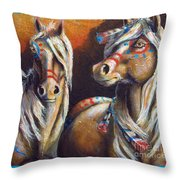 Two Coins Throw Pillow