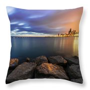 Two-colored Sky During The Sunrise Throw Pillow