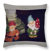 Two Colorful Dudes Throw Pillow