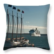 Two Cruise Ships Throw Pillow