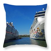 Two Cruise Ships Throw Pillow