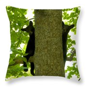 Two Cubs Throw Pillow
