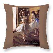 Two Dancers In The Studio Dance School Throw Pillow