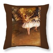 Two Dancers On Stage Throw Pillow