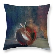 Two Dimensional Apple Throw Pillow