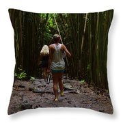 Two Explorers Throw Pillow