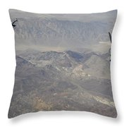 Two F-16 Fighting Falcons Break Throw Pillow by Stocktrek Images