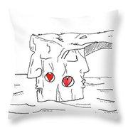 Two Faces Of Dwejra Throw Pillow