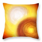 Two Fire-colored Stars Throw Pillow