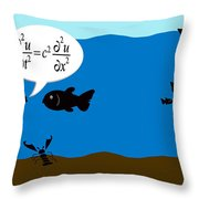 Two Fish Discuss Wave Theory. Throw Pillow