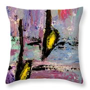 Two Flats Throw Pillow by Anita Burgermeister
