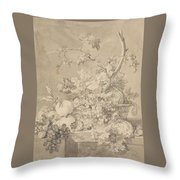 Two Floral Still Lifes Throw Pillow