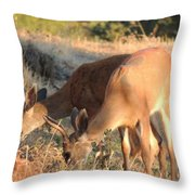 Two Forked Horns Throw Pillow