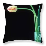 Two French Tulips Throw Pillow