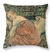 Two Friends 1895 Throw Pillow