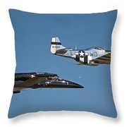 Two Generations Of Aircraft Throw Pillow