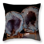 Two Geodes Throw Pillow