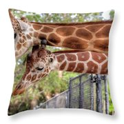 Two Giraffes Throw Pillow