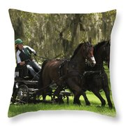 Two Hands Throw Pillow