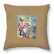 Two Hats Throw Pillow