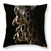 Two Headed Giraffe Throw Pillow
