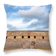 Two Headed Statue And Governors Palace Throw Pillow