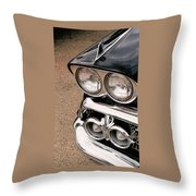 Two Headlights Throw Pillow