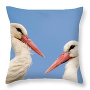 Two Heads Throw Pillow