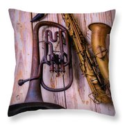 Two Horns Throw Pillow