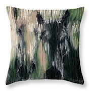 Two Horses In Greens Throw Pillow