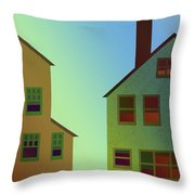 Two Houses Throw Pillow