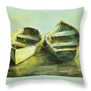 Two In A Row Throw Pillow