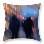 Two In The Rain Throw Pillow