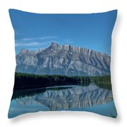 Two Jack Lake In The Morning Throw Pillow