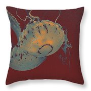 two Jelly fish Throw Pillow