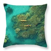 Two Kayakers Throw Pillow