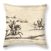 Two Knights Throw Pillow