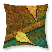 Two Leaves Or Not Two Leaves Throw Pillow