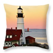 Two Lights Throw Pillow